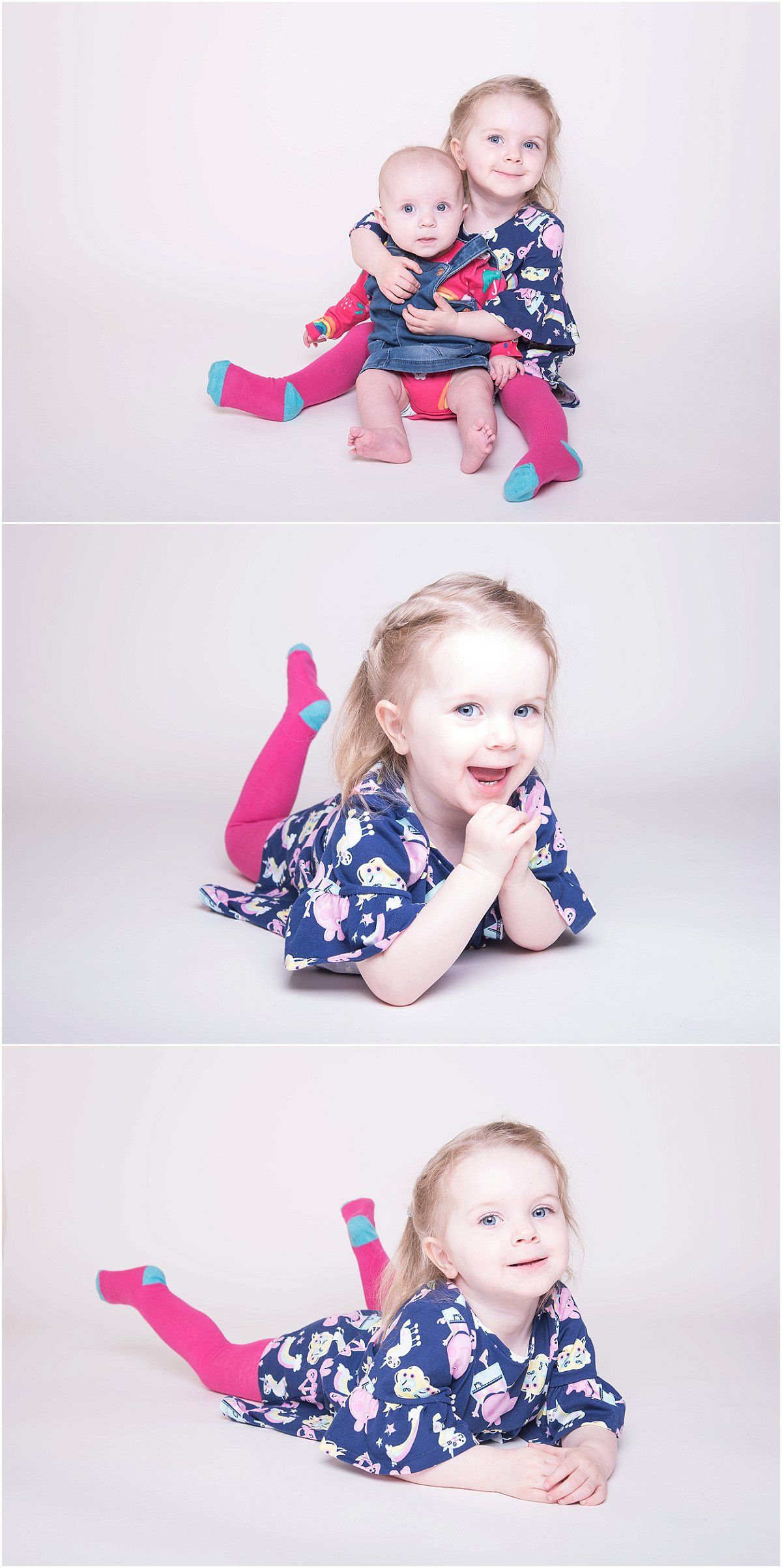 Daisy & Lilly's Studio Shoot with Little Moment Photography