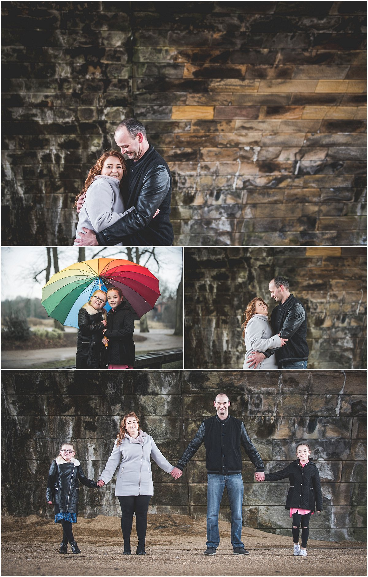 Hugging under a bridge - Avenham Park Pre-Wedding Shoot