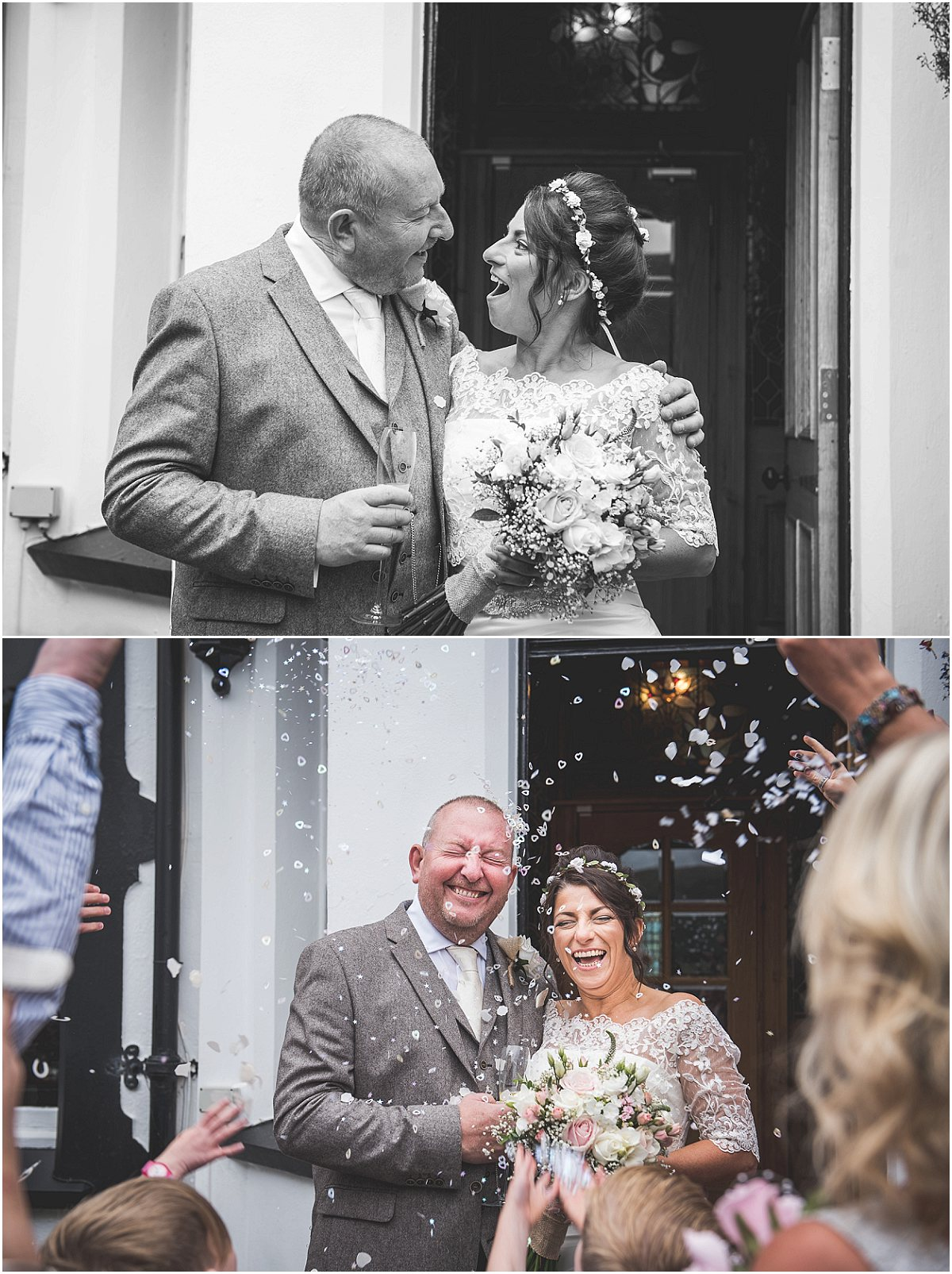 Confetti at Low Wood Hall Hotel, Wast Water Wedding Photography