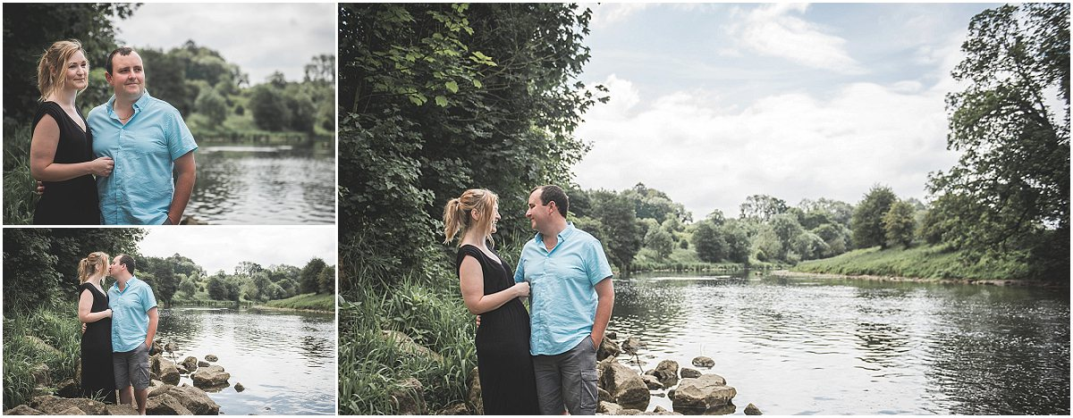 Engagement Photoshoot overlooking the River Ribble at Edisford Bridge | Preston Wedding Photographer