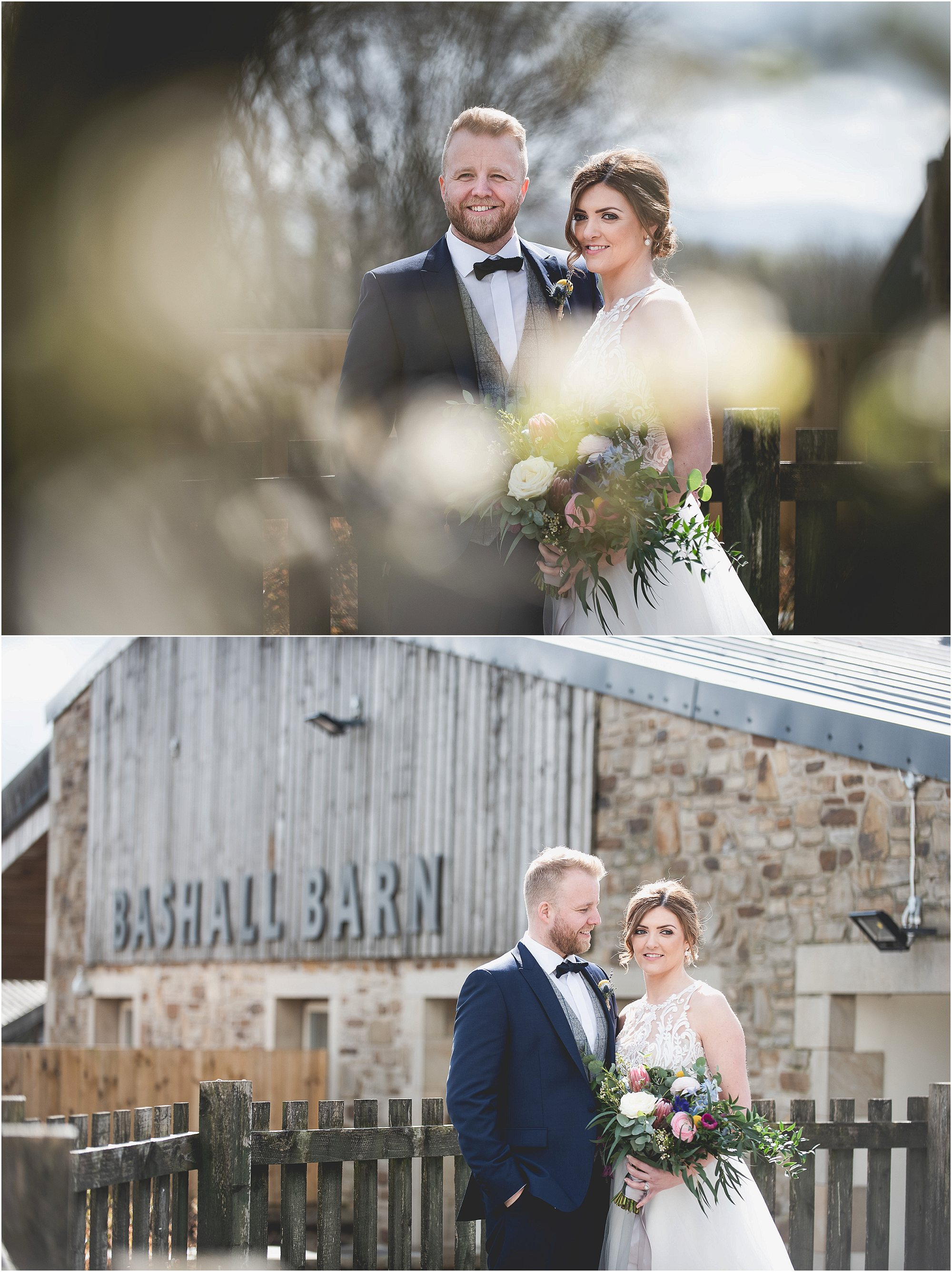 Couple having some Wedding Images taken at Bashall Barn