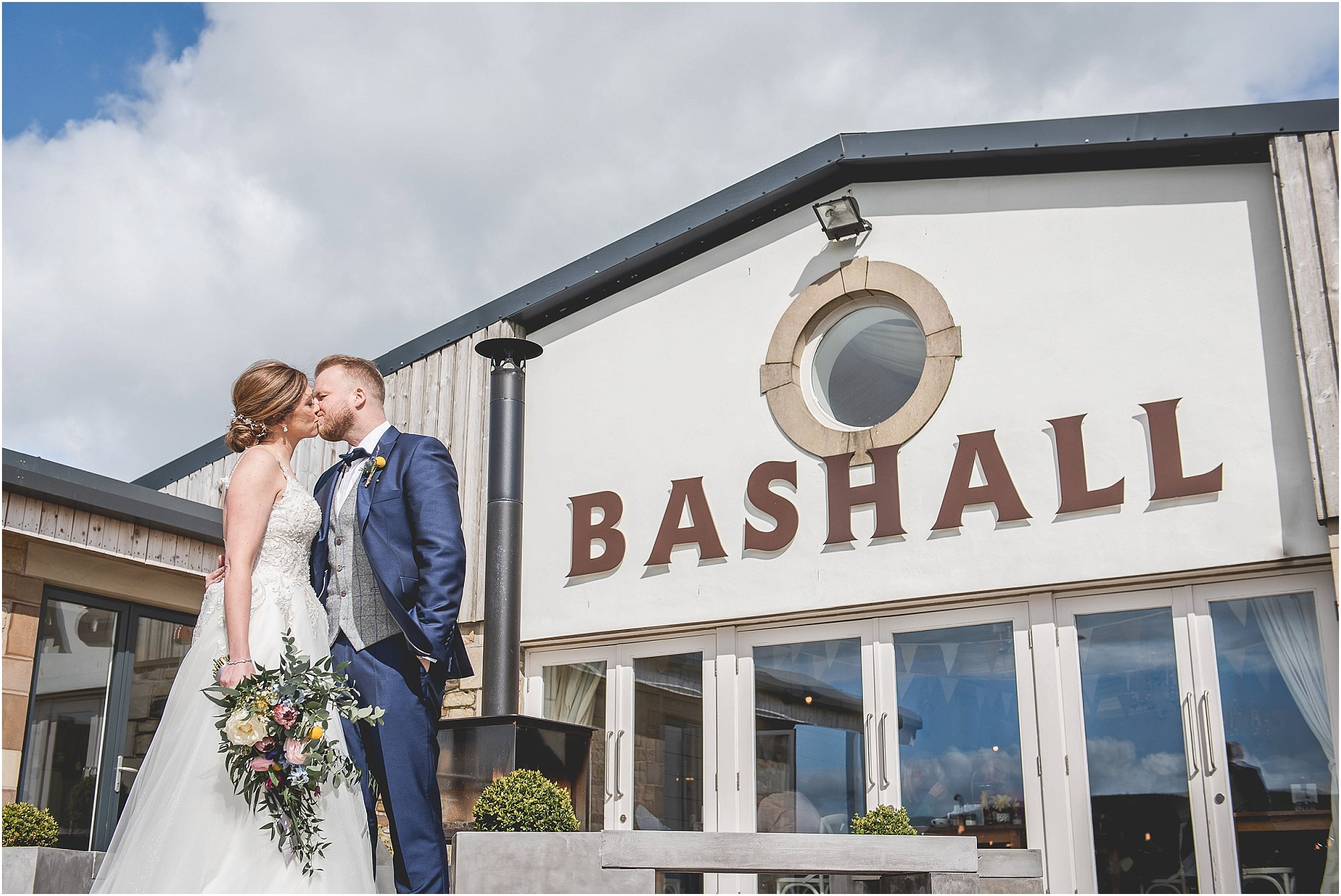 Couple get married at Bashall Barn Wedding Venue