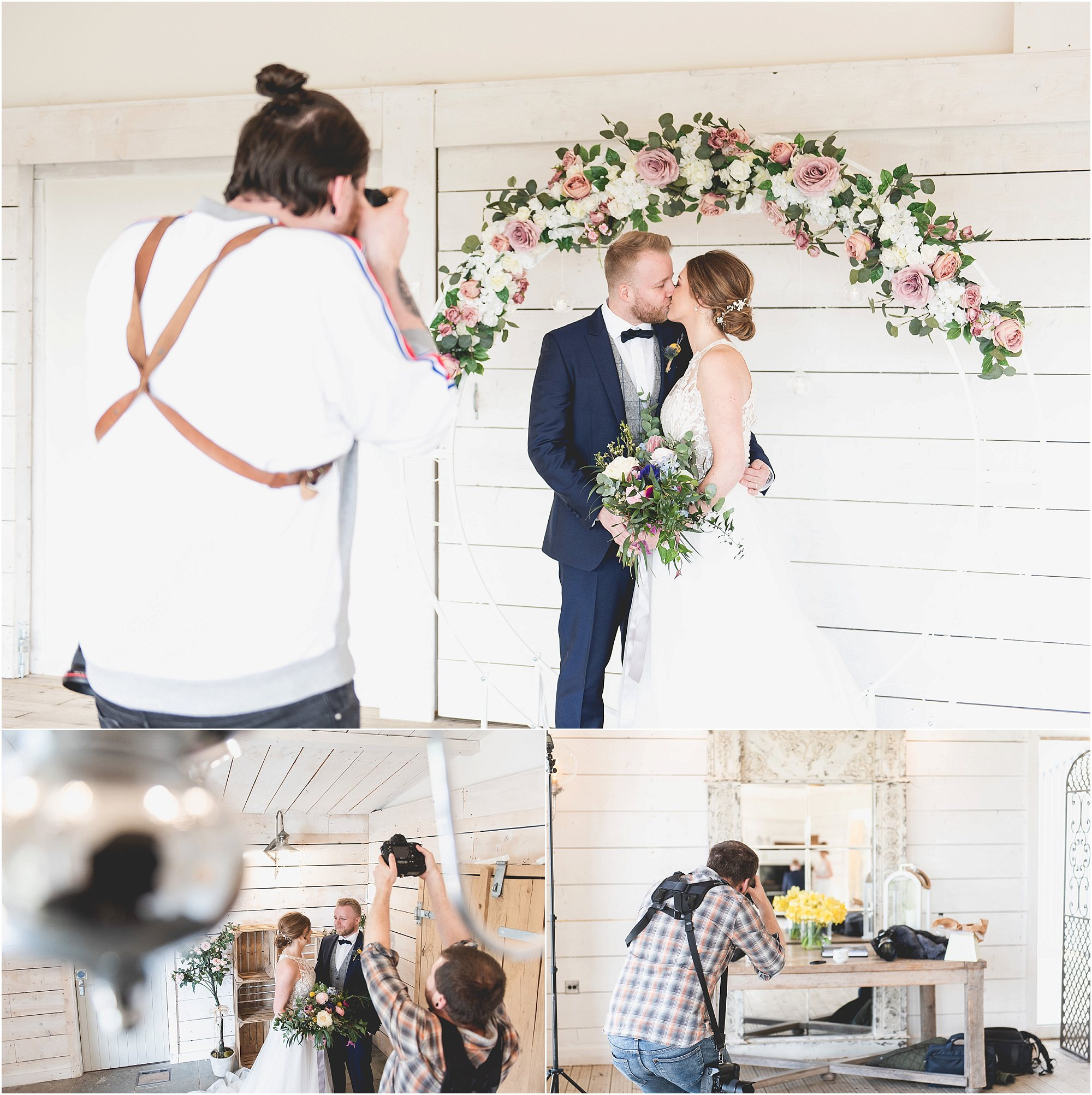 Creative Wedding Photography at Bashall Barn