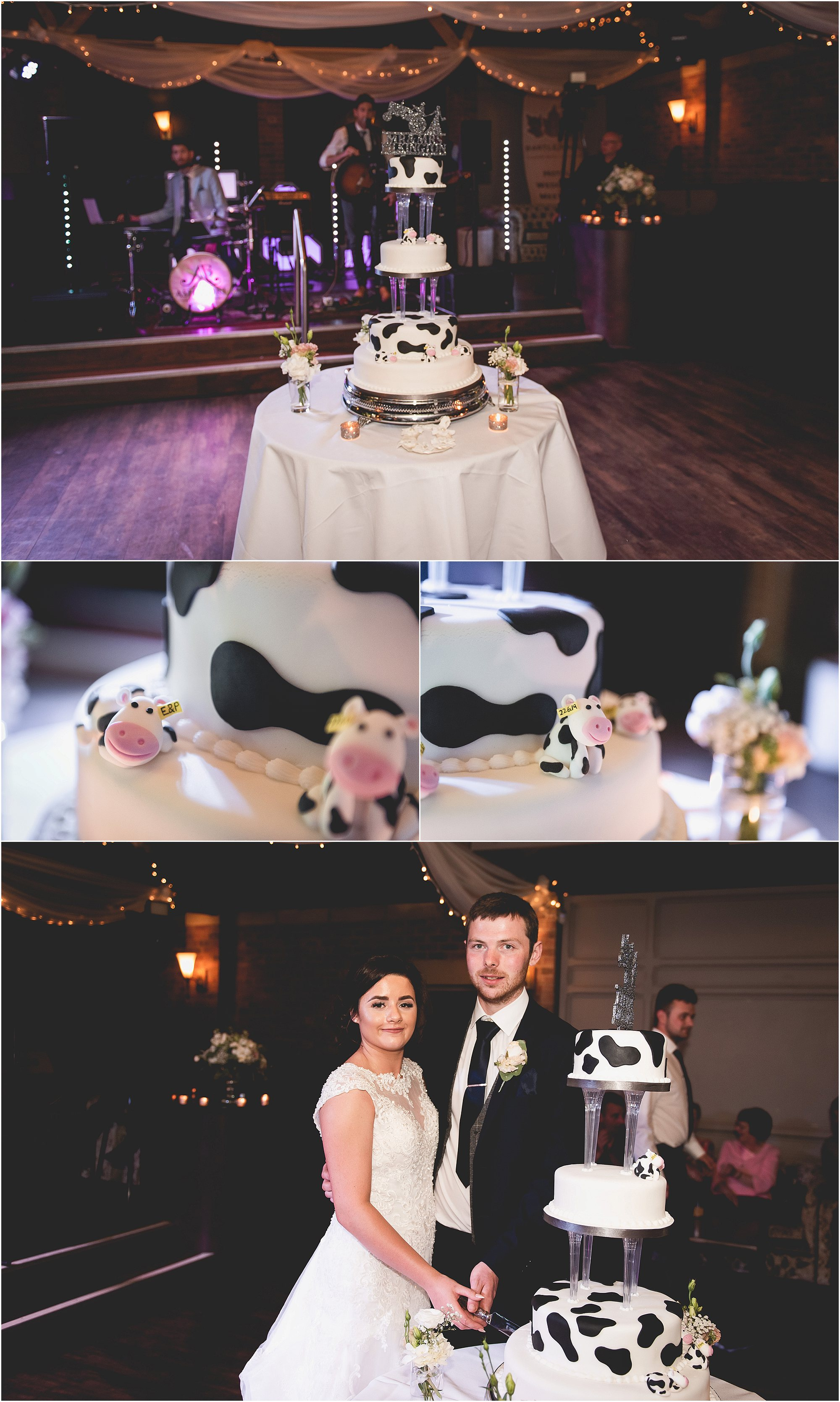 Dairy farm themed Wedding Cake